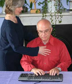 Working at a keyboard